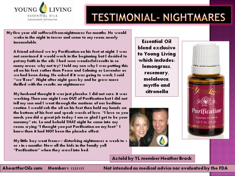 Testimonial Nightmares A Heart For Oils