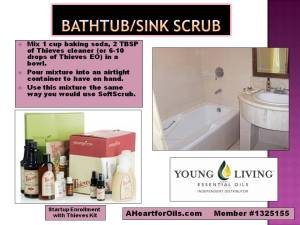 Bathtub and sink scrub