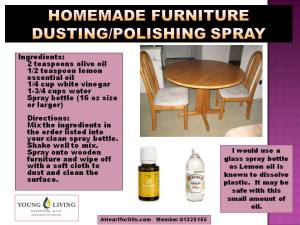Homemade Furniture Polishing Spray