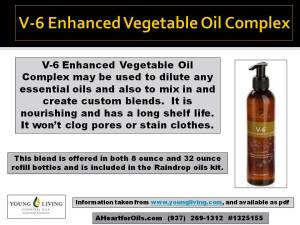 V-6 Enhanced Vegetable Oil